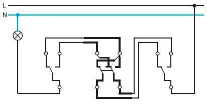 Схема с крестовым переключателем