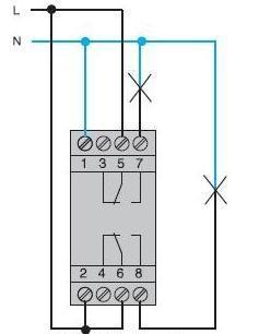 Схема підключення таймера Хагер EG203