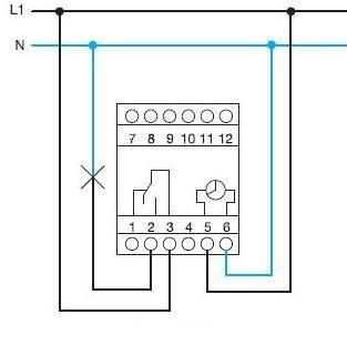 Схема підключення таймера Хагер EH110